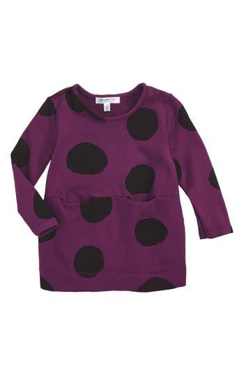 Infant Girl's Joah Love Dot Dress, Size 12M - Purple
