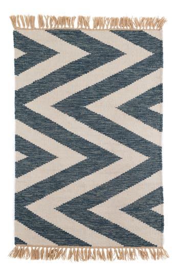 Dash & Albert Mona Indoor/outdoor Rug, Size Swatch - Blue