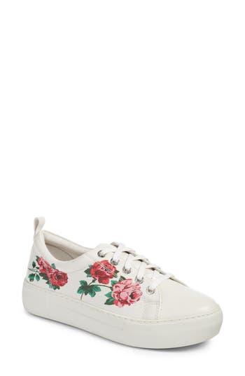 Jslides Adel Floral Sneaker, White