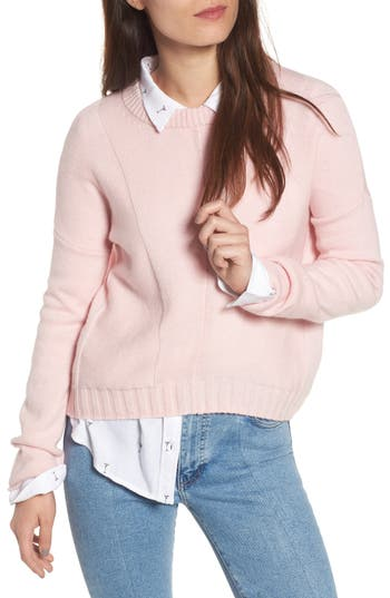Rails Joanna Wool & Cashmere Sweater, Pink
