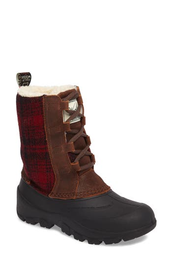 Woolrich Fully Wooly Tundracat Waterproof Insulated Winter Boot, Brown