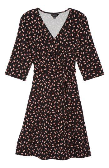 Plus Size Dorothy Perkins Floral Wrap Dress, US / 18 UK - Black