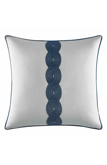 Nautica Cape Coral Rope Embroidered Pillow, Size One Size - White