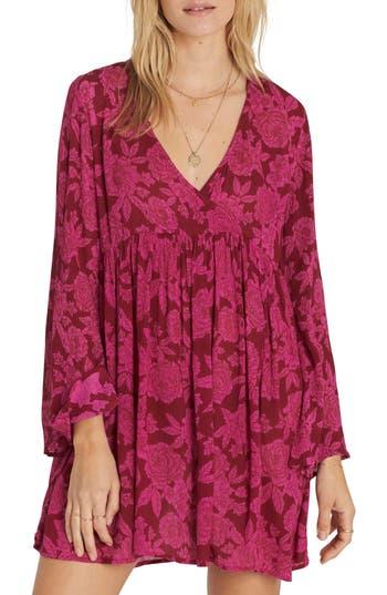 Billabong Take Today Babydoll Dress, Red