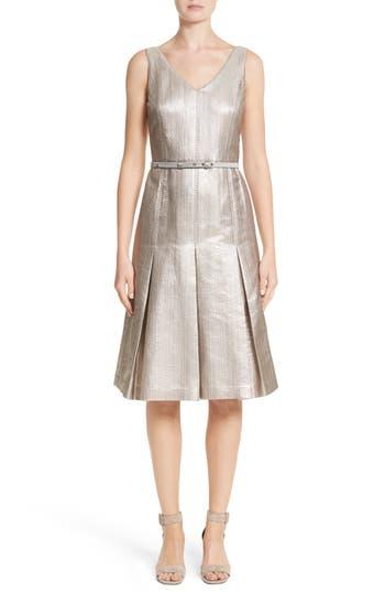 Lafayette 148 New York Lois Ceremonial Cloth Dress, Metallic