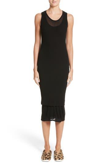 Proenza Schouler Pswl Jersey Gauze Dress, Black
