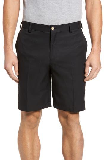 Mens Big  Tall Peter Millar Salem Flat Front Performance Shorts Size 44  Black