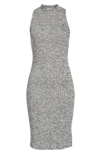 Love, Fire Gigi Rib Knit Dress, Grey
