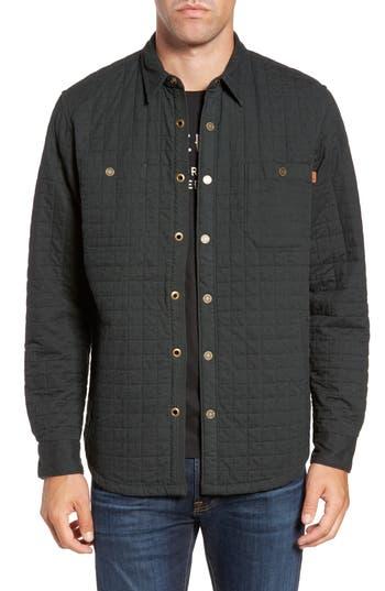 Timberland Gunstock River Lightweight Quilted Shirt Jacket, Green