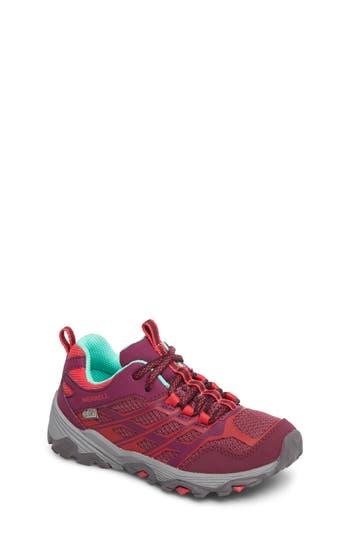Girls Merrell Moab Fst Polar Low Waterproof Sneaker Size 2 M  Blue