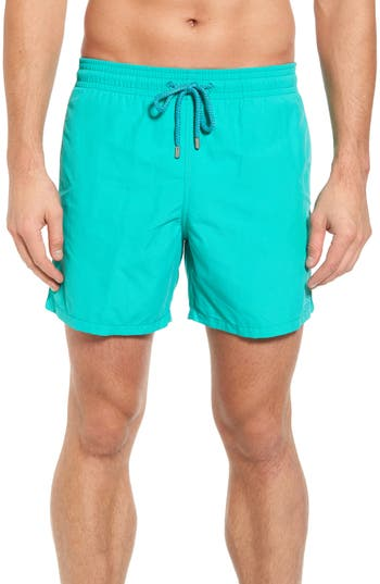 Vilebrequin Sardine Water Reactive Swim Trunks, Green