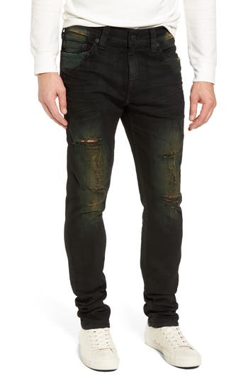 True Religion Brand Jeans Rocco Skinny Fit Jeans, Green