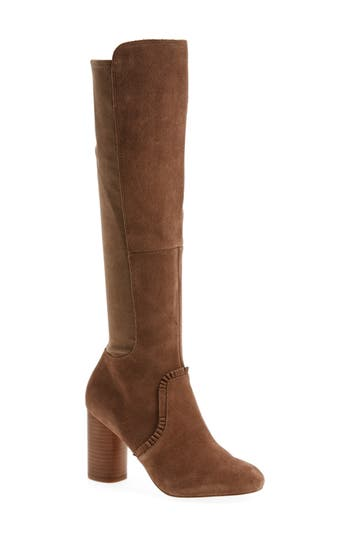 Sole Society Allegra Stretch Back Boot- Brown