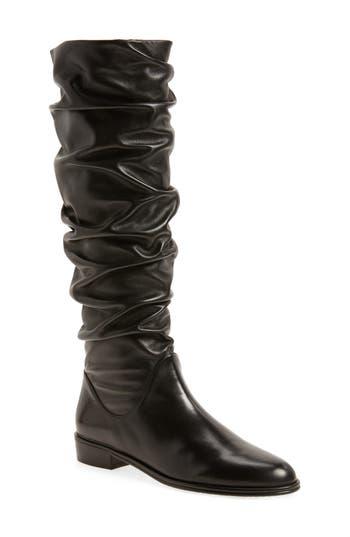 Stuart Weitzman Flatscrunchy Boot- Black