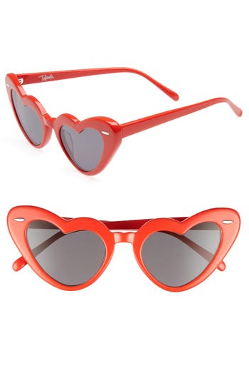 Women's Takesh J'Adore 46Mm Heart Sunglasses - Red