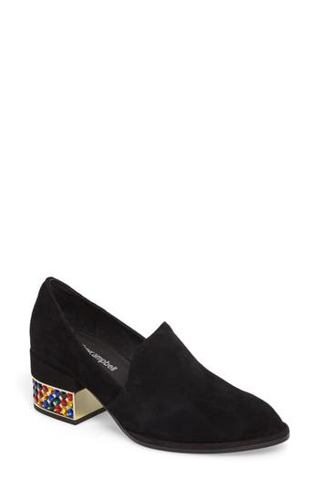 Jeffrey Campbell Serlin Jeweled Heel Loafer, Black