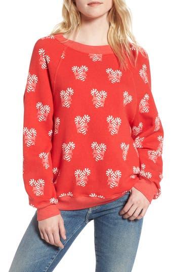 Women's Wildfox Sweet Treat Sweatshirt, Size Medium - Red