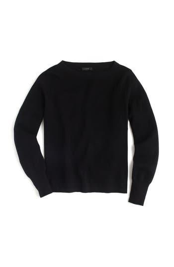 J.crew Merino Wool Blend Boatneck Sweater, Black