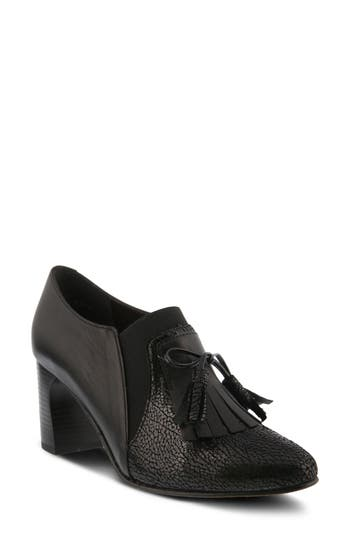 Spring Step Conquer Foldover Cuff Bootie - Black