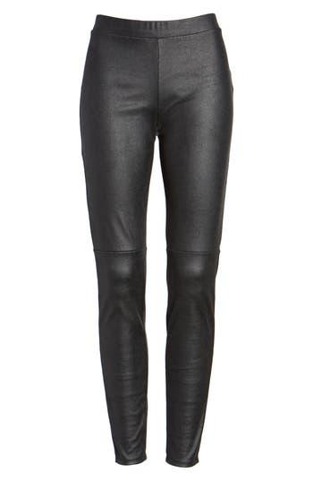 Trouve Faux Leather Leggings, Black