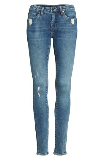 Blanknyc Mind Games Distressed Skinny Jeans, Blue