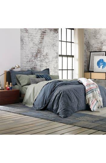 tommy hilfiger vintage pleated comforter u0026 sham set size twin blue