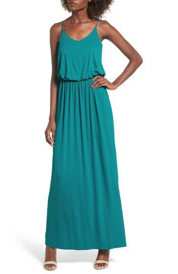Knit Maxi Dress, Blue/green