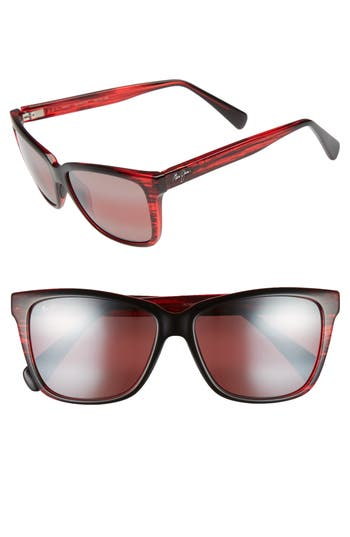 Maui Jim 5m Jacaranda Polarized Sunglasses - Red Stripe/ Maui Rose