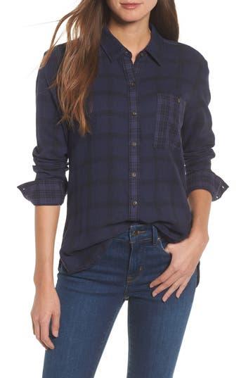 Lucky Brand Plaid Pocket Shirt, Blue