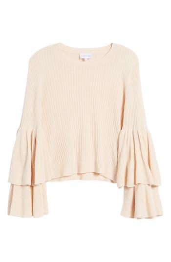 Women's Devlin Tiara Bell Sleeve Sweater, Size Small - Pink