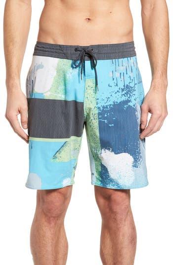 Volcom 3 Quarta Board Shorts, Blue