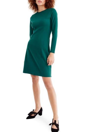 Women's J.crew Storm Ponte Knit Dress, Size X-Small - Green