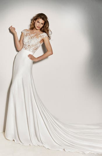 Pronovias Guadiana Crepe Skirt, Size IN STORE ONLY - Ivory