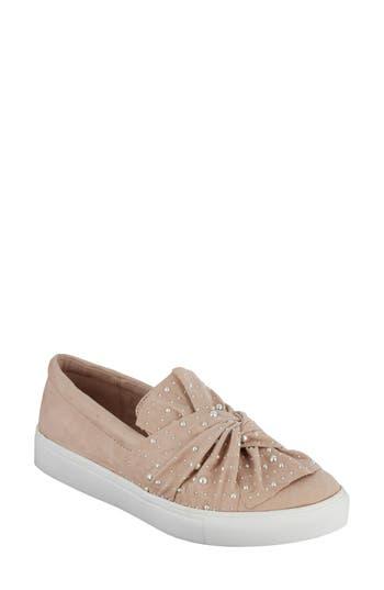 Mia Aretha Embellished Slip-On Sneaker, Pink