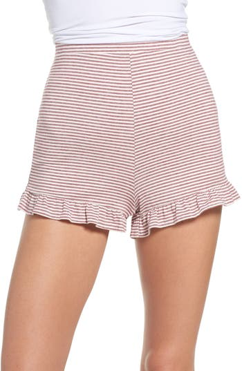 Embry Ruffle Hem Lounge Shorts