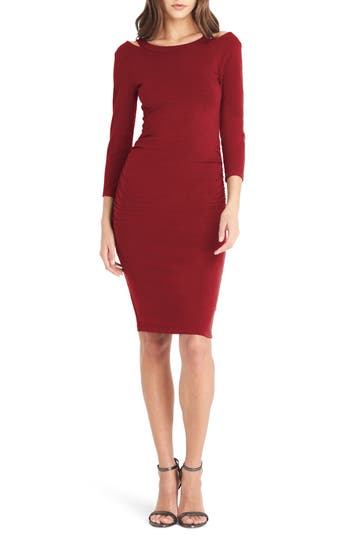 Michael Stars Strap Back Body-Con Dress, Red