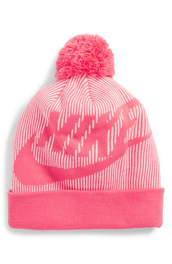 sale retailer 0d950 76fb3 ... UPC 091207610543 product image for Women s Nike Sportswear Beanie With Removable  Pom - Pink   upcitemdb ...