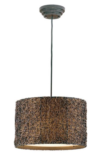 Uttermost Knotted Rattan Pendant Lamp