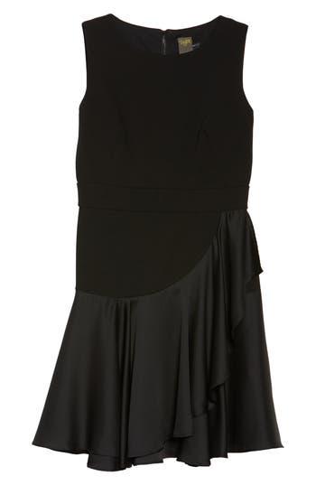 Taylor Dresses Ruffle Hem Fit & Flare Dress, Black