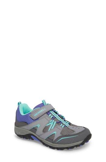 Girls Merrell Trail Chaser Sneaker Size 3 M  Grey