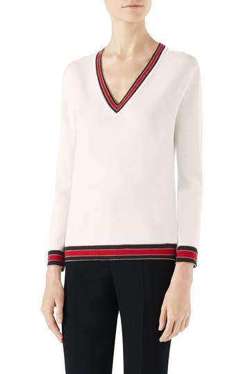 Gucci Merino Wool Sweater, White