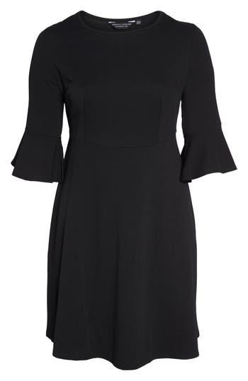 Plus Size Dorothy Perkins Liverpool Fit & Flare Dress, 0W US / 24UK - Black