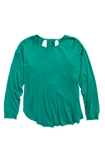 Girl's H.i.p. Racerback Tee, Size Small - Green