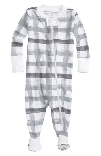 Infant Girls Burts Bees Baby Organic Cotton Fitted OnePiece Pajamas