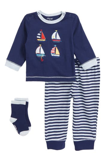 Infant Boys Little Me Sailboat TShirt Jogger Pants  Socks Set