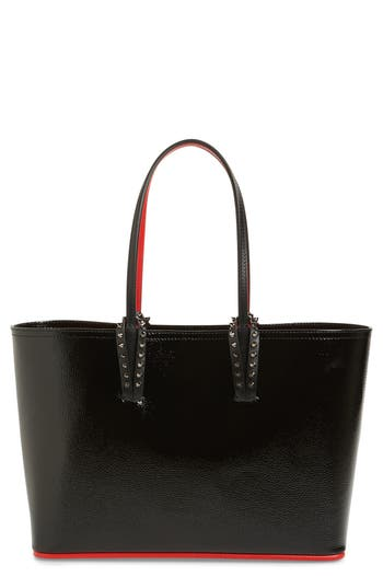 Christian Louboutin Small Cabata Leather Tote - Black at NORDSTROM.com