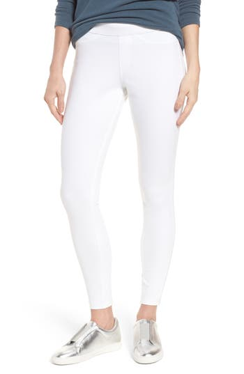 Hue Curvy Fit Jean Leggings, White