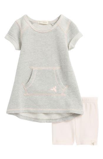 Infant Girls Burts Bees Baby Pique Organic Cotton Dress  Shorts Set