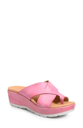 Kork-Ease Baja Wedge Sandal, Pink
