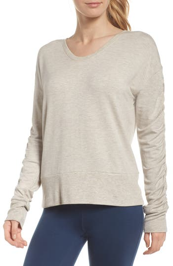 Zella Pop On Sweatshirt, Grey